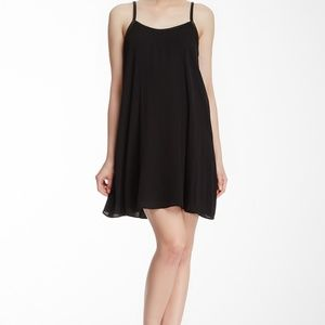 alice & olivia Silk Blend Leather Piping Dress